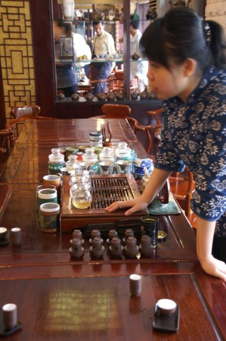 theewinkel in Sjanghai