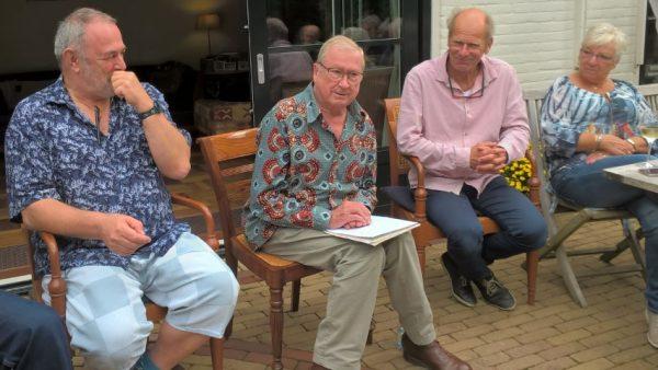 Reünie 2018, van links naar rechts: Jan Piscaer, Theo Helmer, Cor de Grijs, Julia Gaarenstroom
