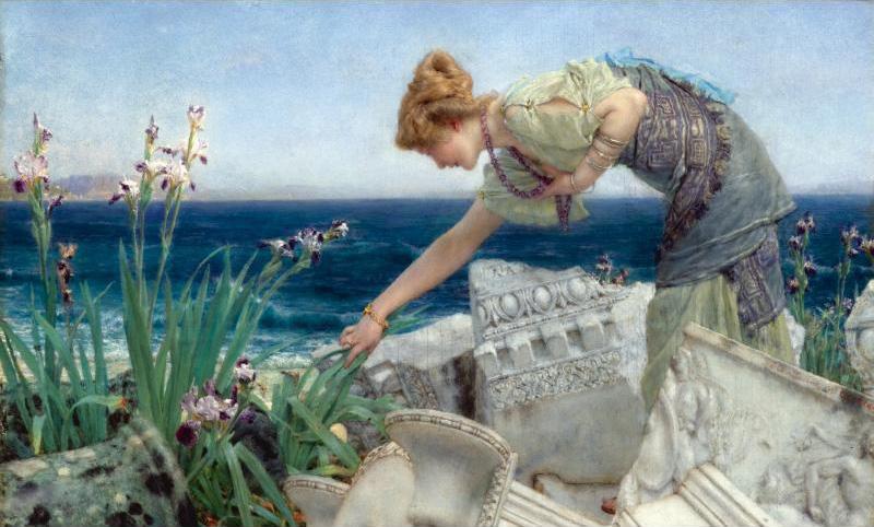 Alma Tadema | Among the Ruins | 1902-1904 | Wiki Art