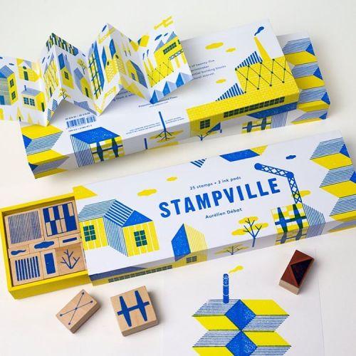 Samen steden stempelen. Stampville.