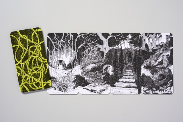 Myriorama kaarten: The Hollow Woods Story Telling Card Game