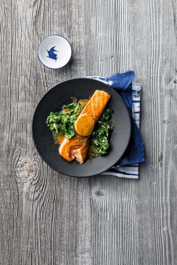 """Salmon with miso butter """"width ="""" 1200 """"height ="""" 1798 """"/> </figure data-recalc-dims="""