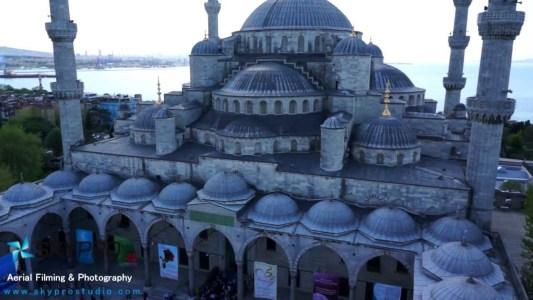 Sultanahmet Camisi Havadan Görünüm