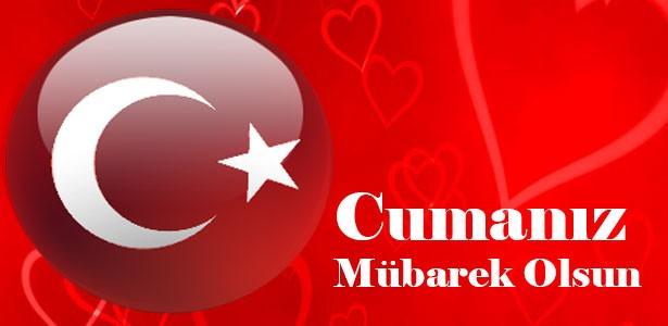 türk bayraklı cuma mesajlar resimli