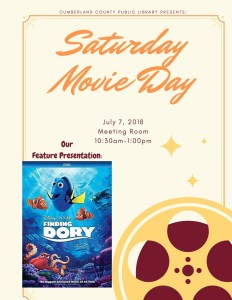 Saturday Movie Day! Finding Dory! @ Cumberland County Public Library