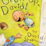 """Little-brother antics have never been so endearing -- or true to life! David Shannon's beloved character in his bestselling book No, David! captures the attention and hearts of young children as few characters can. Readers relish David's exuberance, defiance, and wildly energetic curiosity, and when there's trouble, you can bet """"David did it!"""" Now he's taunting his older brother by eating his Halloween candy, making a bathroom mess, and following him up the tree house. """"You're too little!"""" won't stop David's tricks in this all-time """"read it again"""" favorite. With millions of copies in print and four sequels, No, David! hit the ground running in 1998 and was a Caldecott Honor Book, a New York Times Best Illustrated Book, and a classic for 20 years. Based on a book the author wrote and illustrated when he was five, David captures the timeless no-no's familiar to every child. Grow Up, David! is nothing short of exhilarating."""