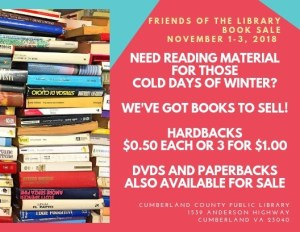 Friends of the Library Fall Booksale! @ Cumberland County Public Library