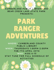 Park Ranger Adventures @ Cumberland County Public Library