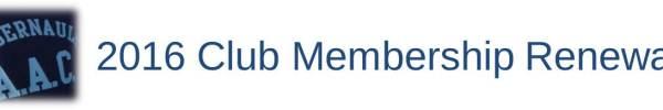Club Membership Renewal