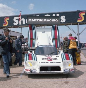 Martin Racing Lancia LC2 driven by Ricardo Patrese and Bob Wollek