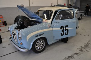 "1958 Austin A35 Academy. ""Where's that engine gone?"""