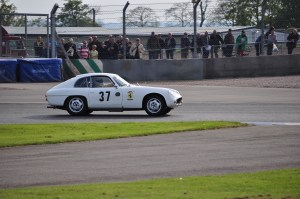 O.S.C.A. 1600 GTS Zagato out on track in the Maserati Centenary Trophy race