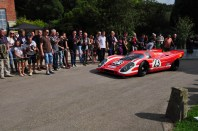 Jurgen Barth tops the hill in the fantastic 917