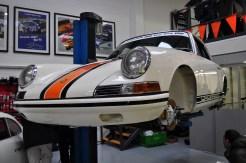 Freshly restored Early 911 race car