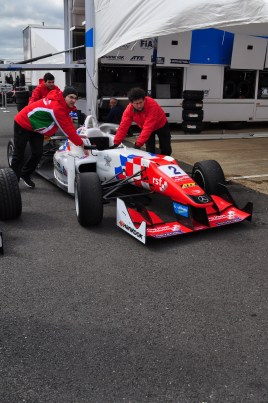 Packing away the F3 cars