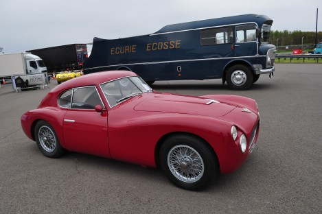 Fiat 8V and Ecurie Ecosse Transporter