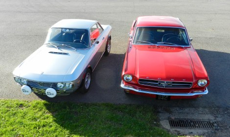 Lancia Fulvia 1.3S and Ford Mustang