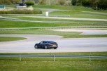 Panamera out on the skid pan