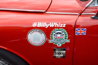 "One of many cars showing support for Billy ""Whizz"" Monger who lost his legs in a terrible F4 crash recently"