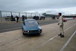 Simon waves Matt out as Steve brings the red car in