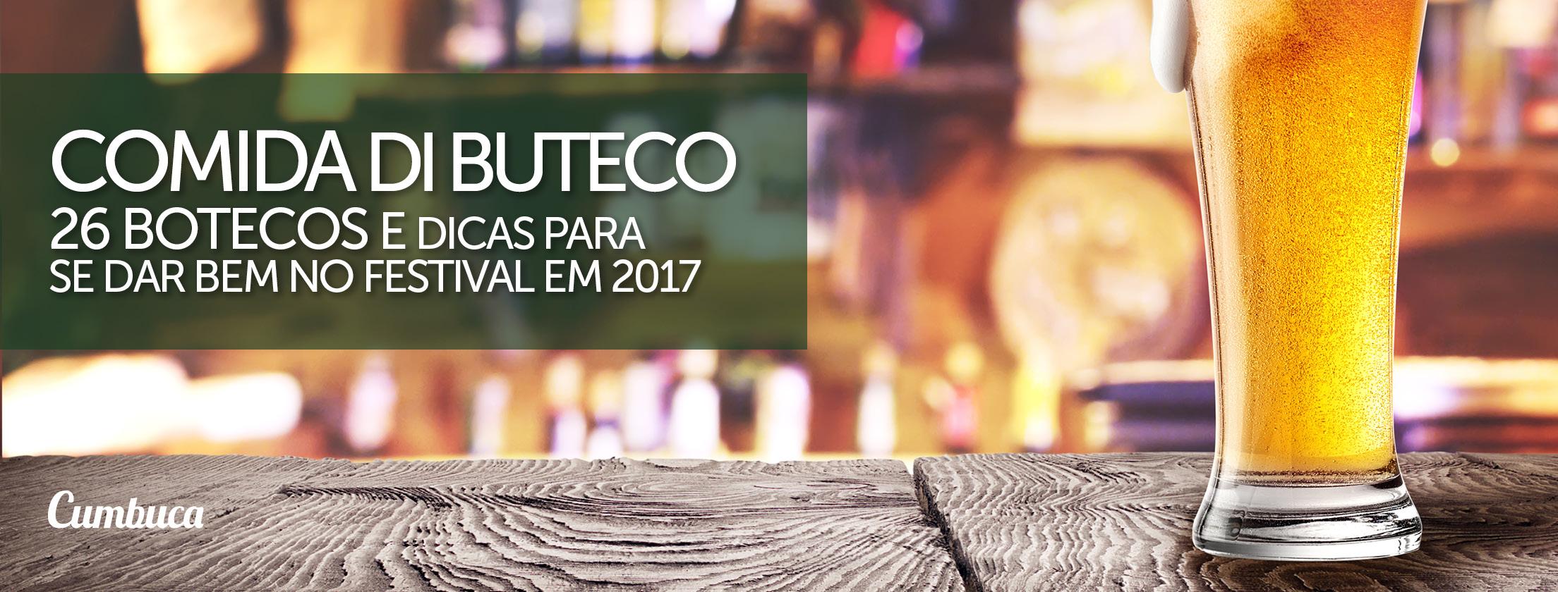 Comida di Buteco 2017 - Todos os Bares e Botecos