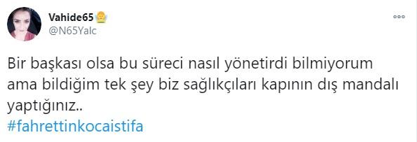 """<p>CHP Adana Milletvekili Ayhan Barut yaptığı açıklamada, """"Kahraman sağlık emekçilerimiz niye #fahrettinkocaistifa diye haykırıyor biliyor musunuz Sayın Fahrettin Koca? Çünkü ağır çalışma koşulları iyileştirilmedi, iş yükleri azaltılmadı, sağlıkta atama yapılmadı, özlük hakları verilmedi"""" dedi.<br></p>"""