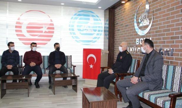 Ülkü Ocakları'nı ziyaret eden İl Jandarma Komutanı Ersever'den açıklama