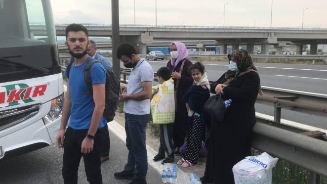 Anadolu Otoyolu'nda iki yolcu otobüsü çarpıştı: 8 yaralı 13