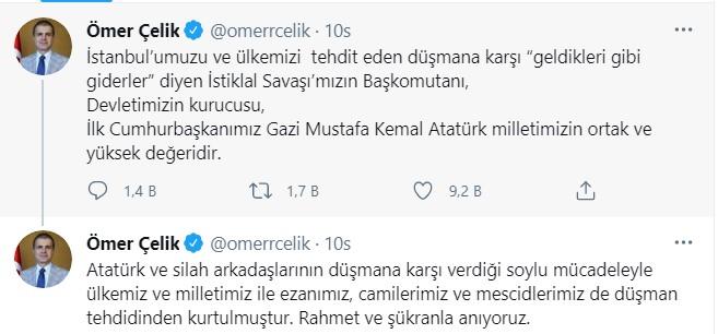 Ayasofya'da Atatürk'e lanet okunmasının ardından AKP'den ilk açıklama 12