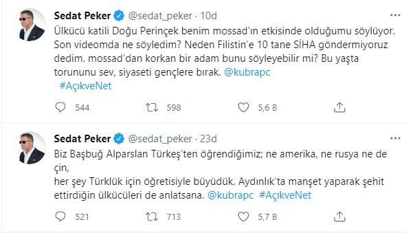 Sedat Peker'den Doğu Perinçek'in 'Peker Mossad'ın avucunda' sözlerine cevap 16