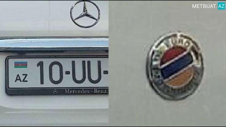 """Bakının mərkəzi küçəsində Ermənistan bayrağı ilə """"gəzən"""" avtomobil - FOTOLAR"""