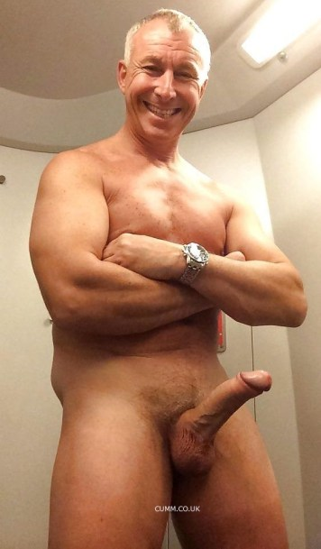 naked silver daddy huge penis nude