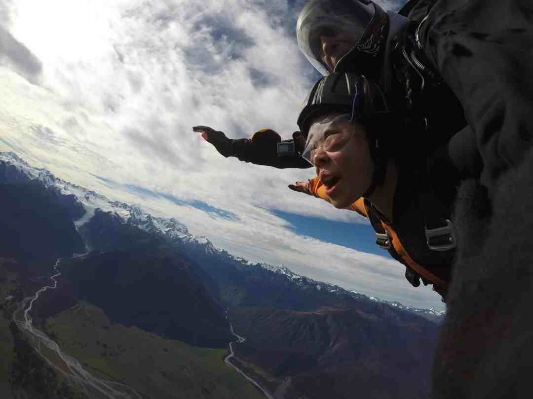Sky Diving in New Zealand