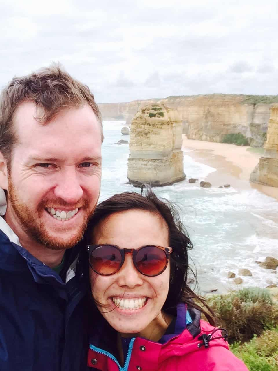 Sarah and I at the 12 Apostles