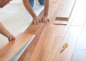 Laminate Floors being laid