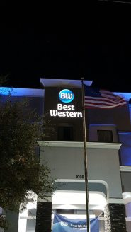 Best Western Button and Letters