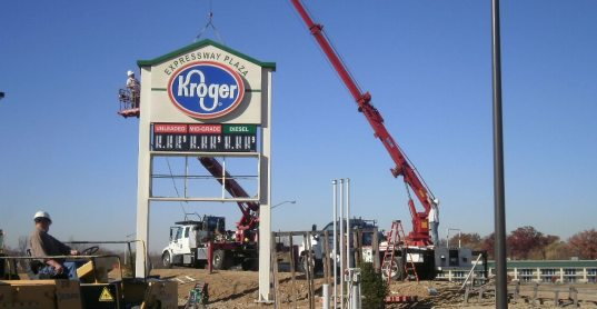 Kroger Pylon Installation
