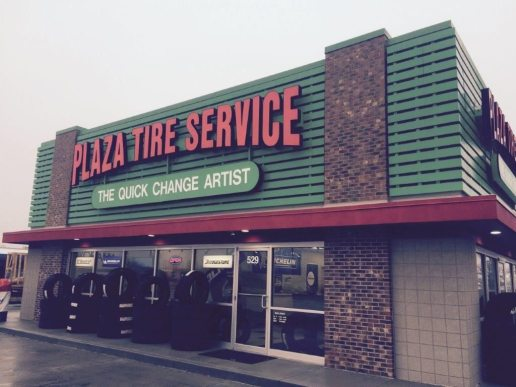 Plaza Tire Service Slat Walls