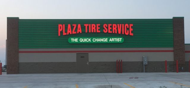 Plaza Tire - Store Signs