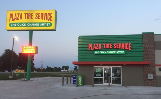 Plaza Tire - Store and Pylon