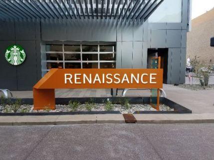 Renaissance Ribbon Sign
