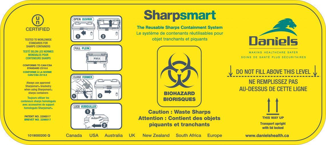 Cummins Label - sharpsmart label