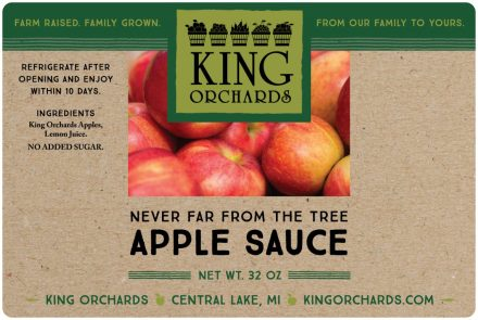 Cummins Label - apple sauce label