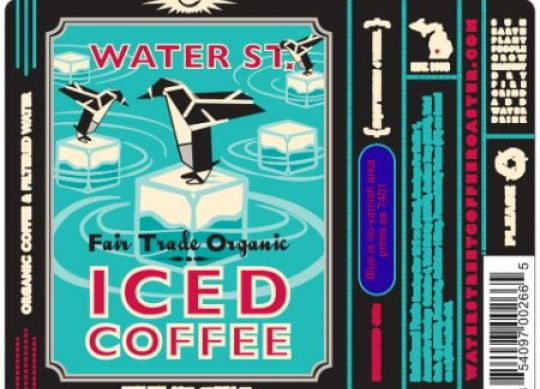 Cummins Label - iced coffee beverage label