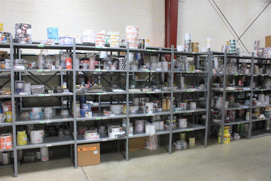 Cummins Label - shelves of labels