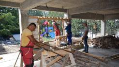 Lucrări la Grădinița Sfânta Maria. FOTO Primăria Cumpăna