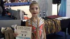 Miruna Matei de la CS Victoria Cumpăna, medaliată la Campionatele Naționale de Gimnastică Ritmică. FOTO CS Victoria Cumpăna