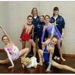 Le allenatrici Sensini e Rancurello con le promettenti ginnaste