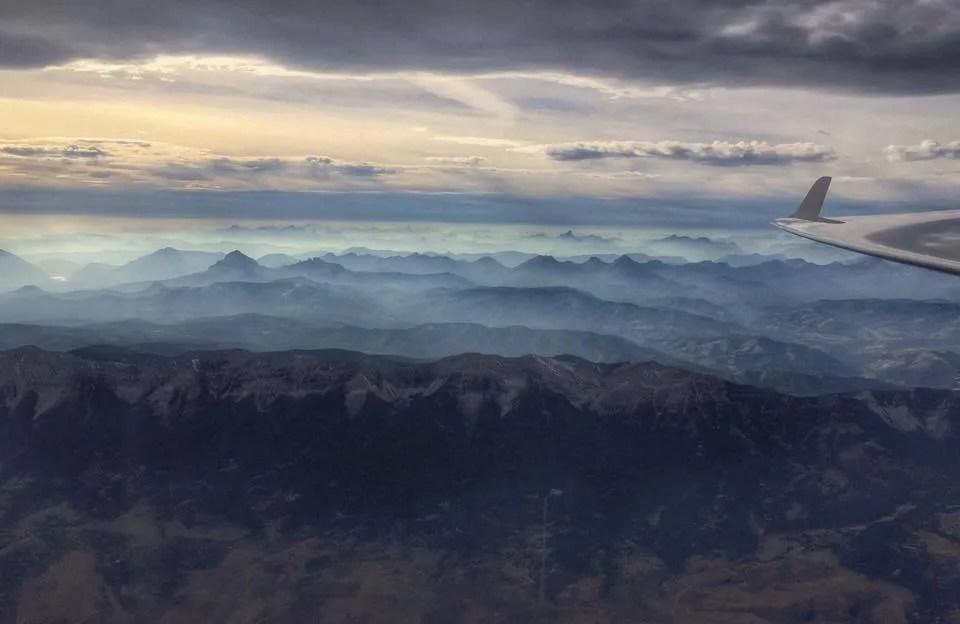 Rockies at dusk