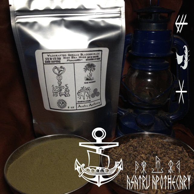 Raw Wild German Bladderwrack & Wild Irish Seamoss Powder Blend